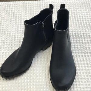 "Lucky Brand ""Basel"" Black Rubber Rain Boot Size 10"
